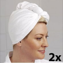 2 x Hair Towel - Microfibre Turban 2 x Hair Towels  Microfibre TurbansSimply twist this ultra absorbent microfibre turban over your wet hair and secure with the button fastening  Its c. Please Click the image for more information.