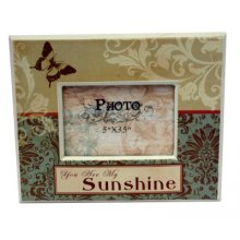 Vintage Style SUNSHINE Frame Vintage style photo frame which has the wording you are my SUNSHINEPhoto Size 13cm x 9cmFrame Size 22cm x 18cmEarthy tones with a butterfly image on the frame  Good quali. Please Click the image for more information.