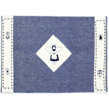 """Angelica"" Navy Reversable Quilted Placemat  Angelica Reversable Quilted PlacematColour Navy  WhiteThis placemat is from the Angelica RangeMeasurements 33cm x 45cm Please Click the image for more information."