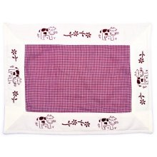 "BURGANDY ""Country Mood"" Reversable Quilted Placemat BURGANDY Country Mood Reversable Quilted PlacematColour Burgandy and WhiteThese placemats are from the Country Mood RangeMeasurements 33cm x 45cm Please Click the image for more information."