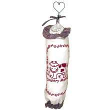 COUNTRY MOOD Plastic Bag Holder - BURGANDY COUNTRY MOOD Plastic Bag Holder BURGANDYThese are a handy accessory to any homeMeasurements 20cm x 50cmMaterial 100 CottonPlease note that photos are taken from real products though sometimes the camera does not show the exact colours you see with your eyes If you are very str. Please Click the image for more information.