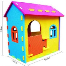 Kids Cubby house - Giant Foam House Kids Cubby house  Giant Foam HouseThis cubby house is made from kidsafe nontoxic EVA foamThe foam measures 2cm thick and the pieces easily join together for quick and simple constructioncomes in a b. Please Click the image for more information.
