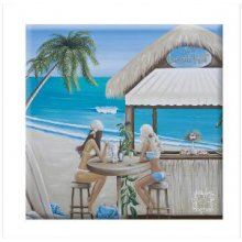 PARADISE BEACH HUT 60x60 Kelly Lane PARADISE  BEACH HUT Canvas BlockmountCanvas Blockmount is a timber board with a stretched canvas mounted on topMeasur. Please Click the image for more information.