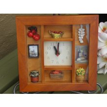 Country Shadow Box Clock - Apples Lovely COUNTRY Shadow Box ClockThis clock is made from timber with a glass front faceEach clock has lovely little country motifsAdd a li. Please Click the image for more information.