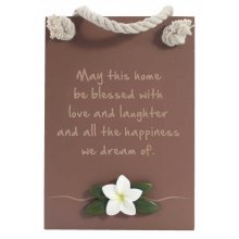 BLESS- LOVE & LAUGHTER Plaque BLESS LOVE  LAUGHTER PlaqueThe Lush collection is a bold simplistic chocolate range featuring natural frangipanisMeasur. Please Click the image for more information.