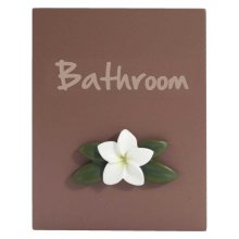 SPLOSH Door Plaque BATHROOM SPLOSH Door Plaque BATHROOMThis plaque is made of wood and it comes complete with a lovely 3d frangipani motifColo. Please Click the image for more information.