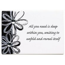 SPLOSH Inspirational Poem - ALL YOU NEED Splosh OPULENCE Inspiration Poem  Wording ReadsAll you need is deep within you waiting to unfold and reveal itselfIt is made of wood with a white resin over the top  Black Daisy . Please Click the image for more information.