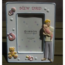 NEW DAD Ceramic Photo Frame. NEW DAD Photo FrameThis frame has been beautifully decorated with a mum holding her baby and accompanied with baby accessoriesFram. Please Click the image for more information.