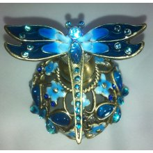 BLUE Perfume Bottle DRAGONFLY This perfume bottle has been beautifuly decorated with a dragonfly on the topThese would make a perfect gift or a treat for yourself Meas. Please Click the image for more information.