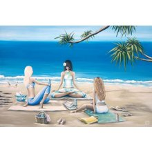 The Cove TRANQUIL YOGA 90 x 120cm Kelly Lane TRANQUIL  YOGA CanvasCanvas is stretched onto a timber frame which is ready to hang on your wall Measu. Please Click the image for more information.