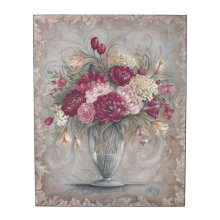 STUNNING Wooden Wall Art - FLOWERS/VASE Stunning Flowers in a Vase Wall ArtThis shabby style flowers would make a lovely statement on your wallExce. Please Click the image for more information.