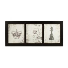 Decorative CROWN Wooden Frame Window Pane Decorative CROWN Wooden Frame Window PanelThe wooden frame is blackAll ready to hang or you could use them as an internal window for decorative purposesI have us. Please Click the image for more information.