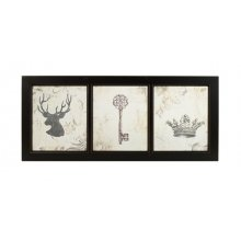 Decorative DEER Wooden Frame Window Pane Decorative DEER Wooden Frame Window PanelThe wooden frame is blackAll ready to hang or you could use them as an internal window for decorative purposesI have us. Please Click the image for more information.