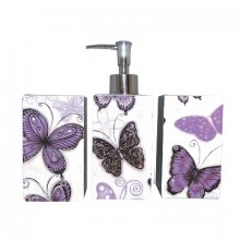 Bathroom 4pce Set ENCHNATED KELLY LANE 4 Piece Bathroom Set ENCHANTED DesignThis bathroom set includes a toothbrush holder soap dish tumbler and liquid soap dispenserLotion Bottle Measurement 19cm x 7cmTumbler Measurement 115cm x 7cmToothbr. Please Click the image for more information.