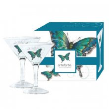 2 x MARTINI GLASSES - PROMENADE AQUA set of 2 Kelly Lane  ArtieFartie Martini Glasses from the PROMENADE AQUA Range These glasses are very chicIt ha. Please Click the image for more information.