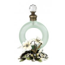 STUNNING Vintage Style Perfume Bottle STUNNING vintage style metal perfume bottle It beautifuly decorated with white and lemen flowers complimented with bling 2 lo. Please Click the image for more information.