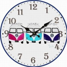 FUNKY Colour COMBI Clock 34cm diameter FUNKY Colour COMBI Clock This clock has 3 Combi VansThe hands are metalMeasurement 34cm diameter Please Click the image for more information.