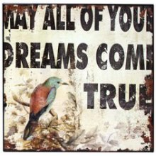 "Vintage Style WALL ART - ""DREAM WITH BIRDS"" Vintage Style WALL ART  DREAM WITH BIRDSThis is a unique piece of artwork   Introducting the lacquer printNothing can be more touching than knowing someone truly caresGive the gi. Please Click the image for more information."
