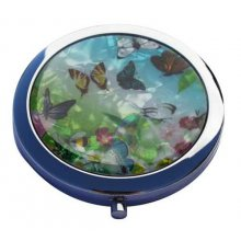 GORGEOUS Pearl Butterfly Compact Mirror GORGEOUS Pearl Butterfly Compact MirrorI am selling a compact mirror which has been decorated with butterflies with a pearl lookThis. Please Click the image for more information.