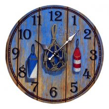 BEAUTIFUL Sea Side PAILING BOLLARD Clock 34cm diameter BEAUTIFUL Sea Side PAILING BOLLARD Clock This clock has an aged lookThe hands are metalAdd a little country to your homeMeasurement 3. Please Click the image for more information.