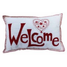BEAUTIFUL Decorative RED WELCOME Cushion FILLED BEAUTIFUL Decorative RED WELCOME Cushion FILLEDThis cushion is just lovely the WELCOME has been stitched on the cushion along with a lovely heart Mea. Please Click the image for more information.