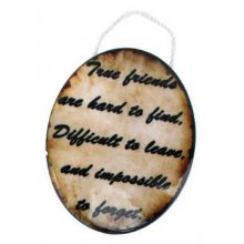 STYLISH Ceramic Plaque - TRUE FRIENDS  STYLISH Ceramic Plaque  TRUE FRIENDSTheres very few things in life that are more important than friendship and its difficult to find items that fully express just how much friends meanbut this friendthemed Hanging Oval does just thatThis plaque has. Please Click the image for more information.