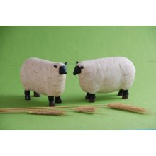 COUNTRY FIGURINE Set of 2 Sheep COUNTRY FIGURINE Set of 2 SheepMade from a hard resin and individually Hand Crafted Creation Measurements 18cm width x 11cm high x 6cm depth each sheepPerfect accessory for any country lover. Please Click the image for more information.