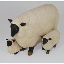 COUNTRY FIGURINE Family of Sheep COUNTRY FIGURINE Family of SheepMade from a hard resin and individually Hand Crafted CreationThe lambs are joined to the mother sheep so you dont have to worry about loosing pieces Measurements 22cm x 14cm x 13cmPerfect accessory for any country lover RRP $4995  . Please Click the image for more information.