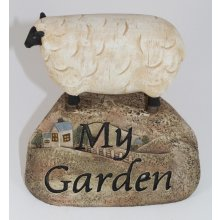 Rustic Country SHEEP on a rock  Rustic Country Sheep on a Rock I am selling a rustic country sheep standing on a Welcome RockMade from a hard resin an individually Hand Crafted Creation Measurem. Please Click the image for more information.