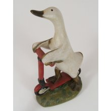 COUNTRY FIGURINE Duck on a Scooter COUNTRY FIGURINE Duck on a ScooterMade from a hard resin and individually Hand Crafted Creation Measurements 21cm x 13cm x 8cmPerfect accessory for any country lover RRP $2995  . Please Click the image for more information.