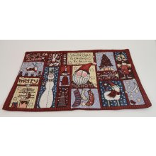 """SANTA CLAUSE"" Burgandy - Rectangle Cushion Cover Santa Clause Burgandy  Rectangle Tapestry Cushion CoverMeasurements 33cm x 45cmPlease note that photos are taken from real products though sometimes the camera does not show the exact colours you see with your eyes . Please Click the image for more information."