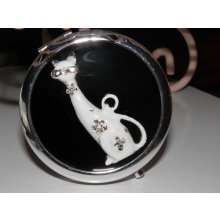 Bling Cat Compact Mirror BLACK Gorgeous compact mirror which has been decorated with an enamel cat complimented with silver bling  This would also make a perfect giftMeasu. Please Click the image for more information.
