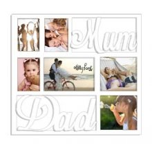 6 HOLE photo Frame MUM and DAD - WHITE Kelly Lane MUM and DAD Photo frame  WHITEPhoto Sizes9cm x 14cm x 319cm x 14cm x 114cm x 14cm x 2Frame Size 505 cms x 505 cmsCol. Please Click the image for more information.
