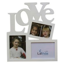 LOVELY Frame - Wonky Love This picture frame is simply adorableIt is of a white clean colour that will surely match well with other frames on the shelf wall or side tablesThe des. Please Click the image for more information.