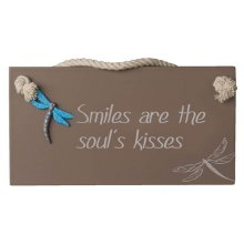 DRAGONFLY - SOULS KISSES Brown Splosh DRAGONFLY  SOULS KISSES PlaqueThis sign is made of wood with a resin coatingMeasurements 22cm wide 115cm highColo. Please Click the image for more information.