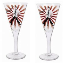Set of 2 Wine glasses Gift Boxed - Elvis set of 2 Kelly Lane  ArtieFartie Wine Glasses from the LEGENDS Range These glasses are very fabulousThey . Please Click the image for more information.