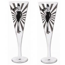Set of 2 Champagne glasses Gift Boxed - Audrey set of 2 Kelly Lane  ArtieFartie Champagne Glasses from the LEGENDS Range These glasses are fabulousThey . Please Click the image for more information.