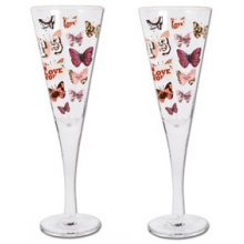 Set of 2 Champagne glasses - Flair set of 2 Kelly Lane  ArtieFartie Champagne Glasses from the FLAIR Range These glasses are very chicLove . Please Click the image for more information.