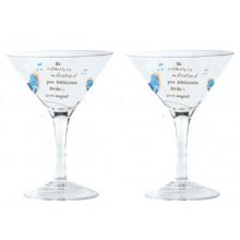 Set of 2 Martini glasses Gift Boxed - RETRO GROOVE set of 2 Kelly Lane  ArtieFartie Martini Glasses from the RETRO GROOVE Range These glasses are fabulousThe w. Please Click the image for more information.