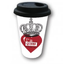 COFFEE MUG TO GO - Global Love Queen Kelly Lane COFFEE MUG TO GO  Global Love QueenCeramic mug with a black rubber lid which you can drink from and keep your coffee hotWordi. Please Click the image for more information.