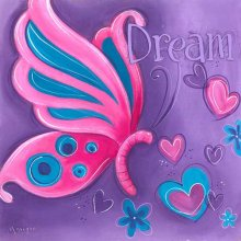 BUTTERFLY - DREAM Splosh BUTTERFLY KISSES  DREAM CanvasCanvas is stretched onto a timber frame which is ready to hang on your wallMeasurements 25cm x 25cm Please Click the image for more information.