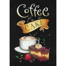Splosh CAFE - COFFEE AND CAKE Canvas 20cm x 30cm  Splosh CAFE  COFFEE and CAKE CanvasCanvas is stretched onto a timber frame which is ready to hang on your wallMeasurements 20cm x 30cmDimension 45x140x5 cm Please Click the image for more information.