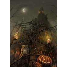 Splosh HALLOWEEN Canvas - 49cm x 70cm Splosh HALLOWEEN Canvas Canvas is stretched onto a timber frame which is ready to hang on your wallMeasurements 47cm x 70cm Please Click the image for more information.