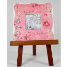 FIELDS OF JOY Daughter Frame with Cherry Easel We are pleased to be selling this beautiful Fields of Joy range  This picture frame is decorated with lovely flowers and is more on the aqua blue side  It . Please Click the image for more information.