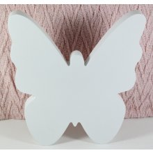 Wooden filled BUTTERFLY 20cm high White Wooden filled BUTTERFLY 20cm highThese clean white butterflies look great on walls sills and shelves In a simple font and beautifully painted in white or paint over the white to match your own decor they are uniquely designed to enhance any spaceEach but. Please Click the image for more information.