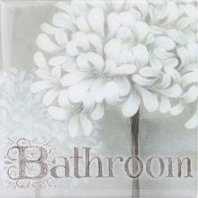 SPLOSH Door Plaque BATHROOM - La Fleur SPLOSH Door Plaque BATHROOM  La FleurThis is range is just lovely with soft greys and whitesMeasurement 12cm x 12cmComes complete with adhesive ready to hang on your door. Please Click the image for more information.