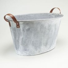 Industrial Gal Tubs Available in Strap handles as shown and Rope handles as shown on the tall planters shown above Please Click the image for more information.