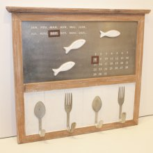 La Mer Calendar w/4 hooks Perfect Kitchen Calendar and reminder board with four hooks that are perfect for your favourite aprons  Please Click the image for more information.