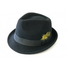 HM 013F HERINGBONE TRILBY black Please Click the image for more information.