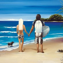The Cove - COUPLE 40x40cm canvas 40x40cm  Please Click the image for more information.
